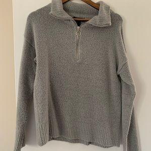Grey Urban Heritage Half Zip Sweater